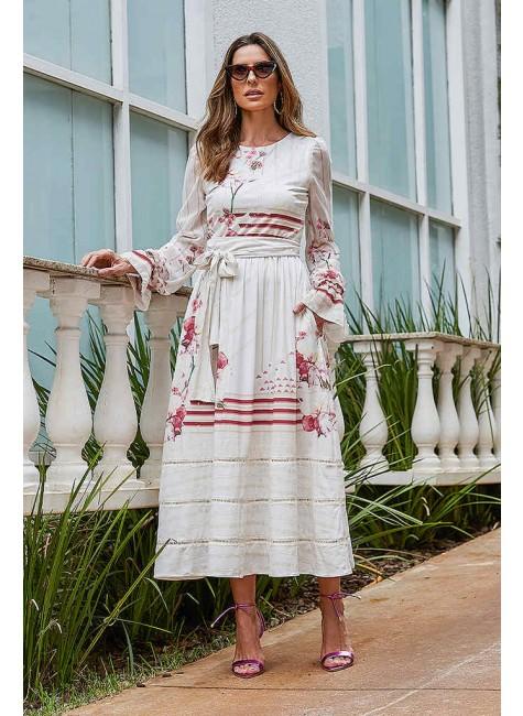 vestido fernanda estampa exclusiva jany pim frente