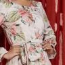vestido ana gabriely estampa exclusiva jany pim frente cima detalhe