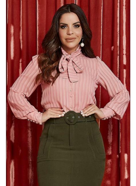 camisa helena cor rose jany pim frente cima