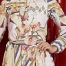 vestido rebeca estampa exclusiva frente cima detalhe