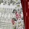 vestido lorayne estampado mangas longas plissado jany pim frente baixo detalhe