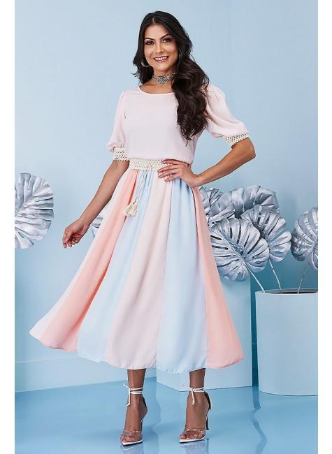 vestido ana paula modelo midi jany pim frente