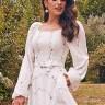 vestido jessica estampado off white jany pim frente cima