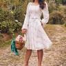 vestido jessica estampado off white jany pim frente