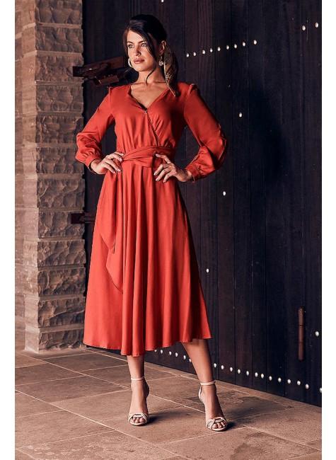 vestido danubia modelo midi jany pim frente