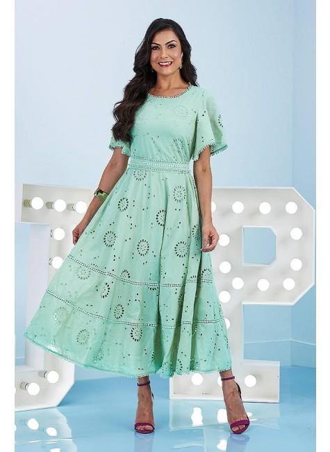 vestido jessica verde de laise jany pim frente