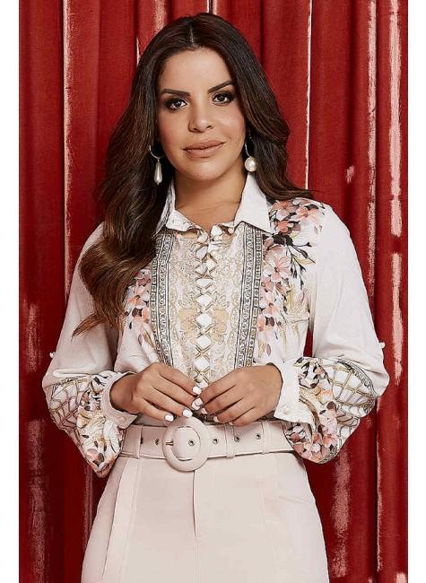 camisa jordana estampa exclusiva jany pim frente